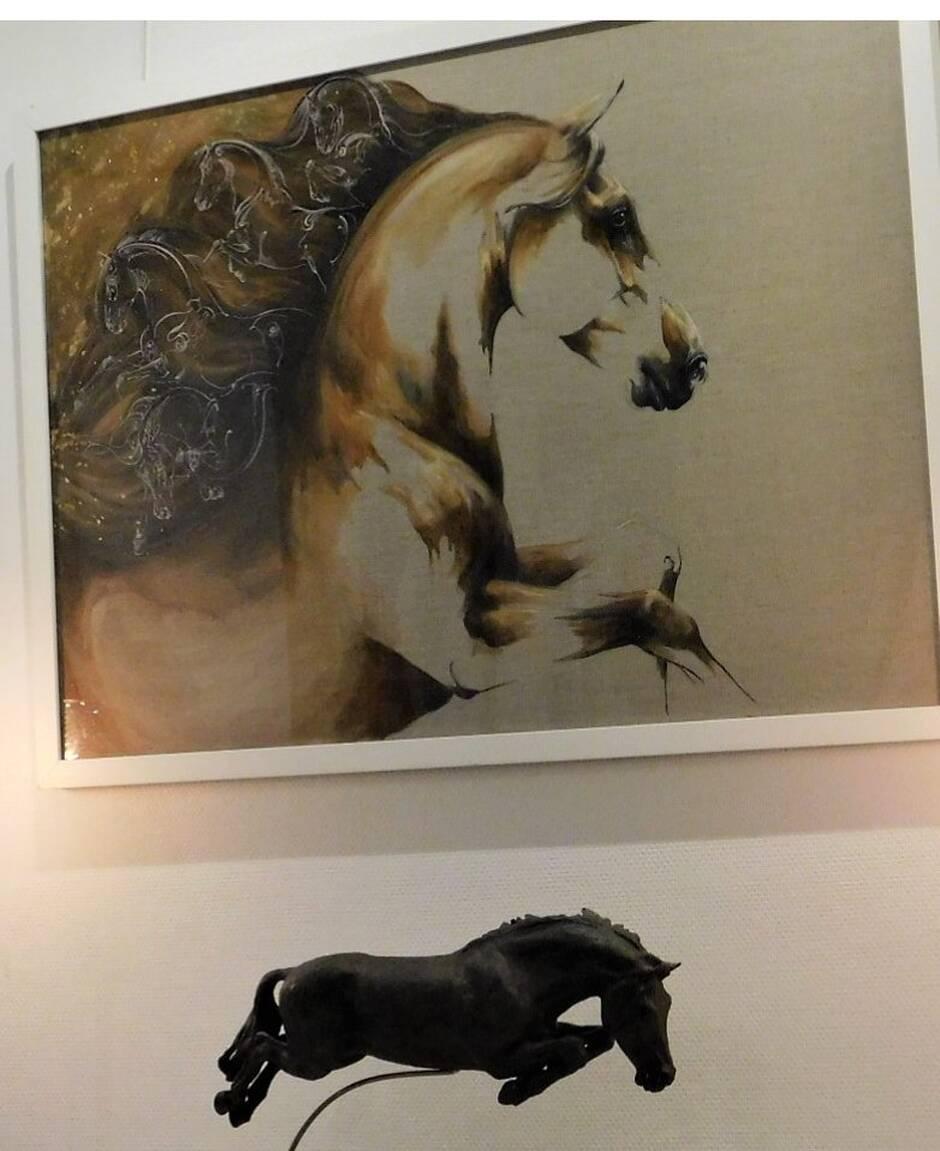 Vouvant. Des chevaux d'ange fascinants à la galerie Duc d'Aquitaine