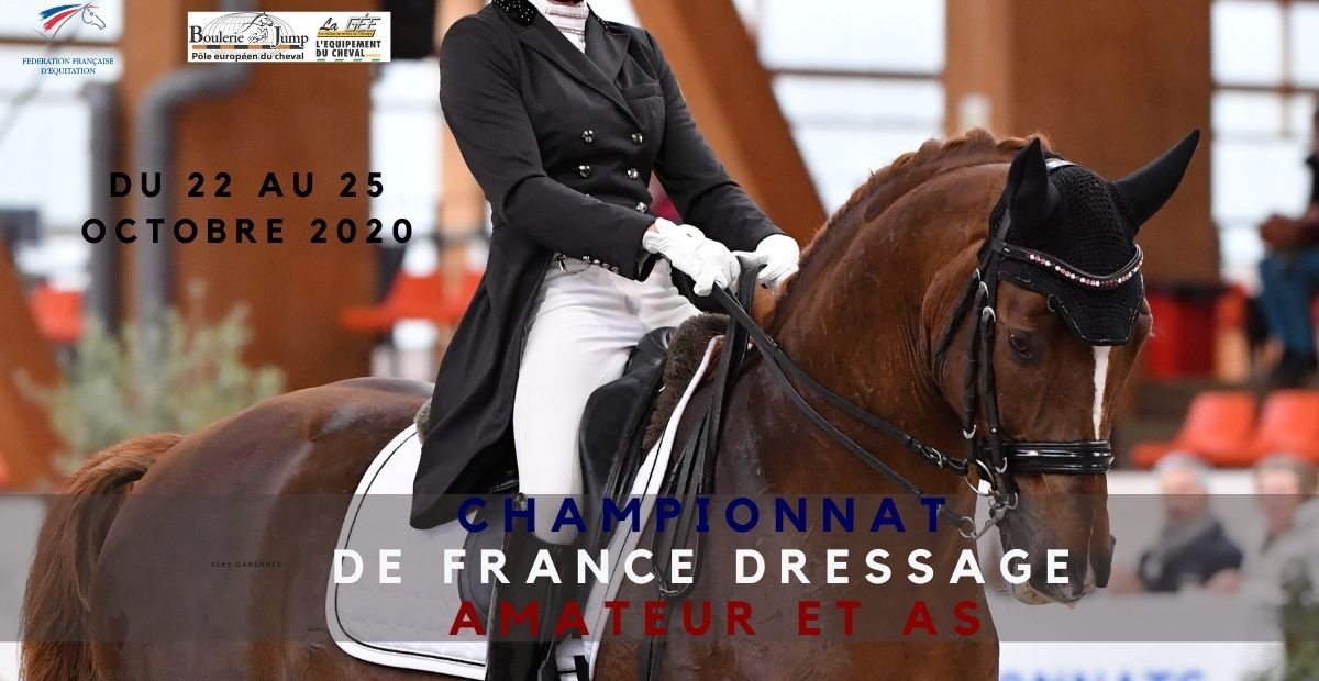 Championnat de France dressage Amateur et As au Mans