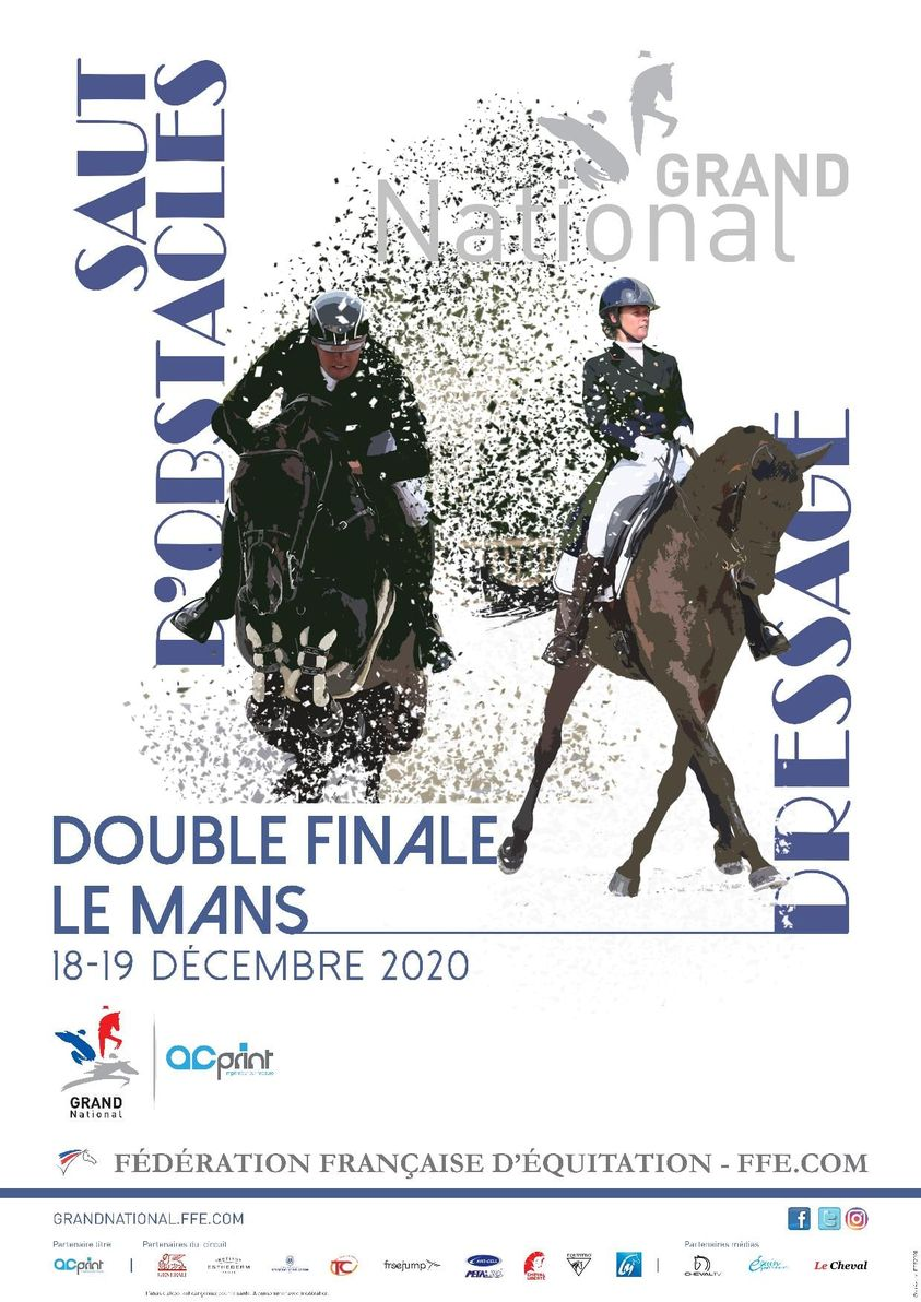 Double finale Grand National / Grand Indoor FFE - AC Print de Dressage et de CSO au Mans