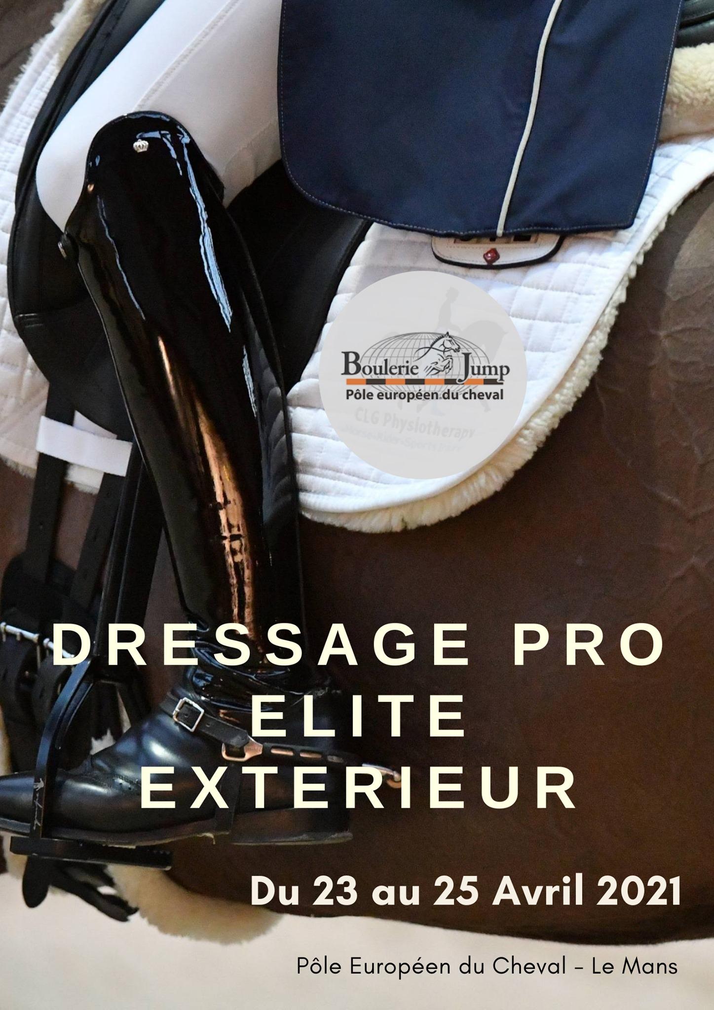 DRESSAGE PRO Elite huis clos - 23 au 25 Avril
