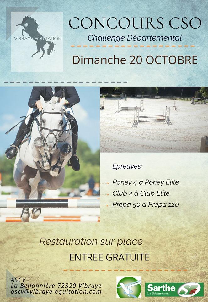 Concours de CSO et challenge départemental à Vibraye